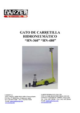 GATO DE CARRETILLA HIDRONEUMÁTICO