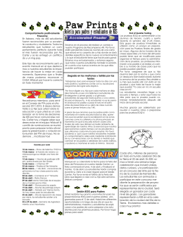 Paw Prints March 2011 spanish