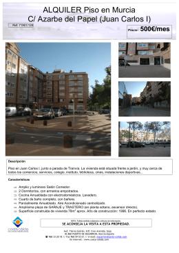 ALQUILER Piso en Murcia C/ Azarbe del Papel (Juan Carlos I)