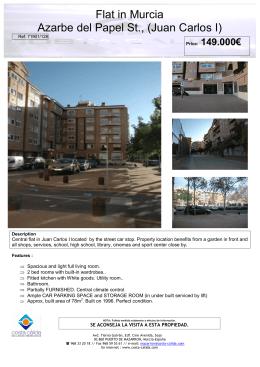Flat in Murcia Azarbe del Papel St., (Juan Carlos I)