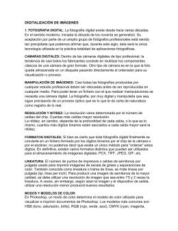 DIGITALIZACIÓN DE IMÁGENES 1. FOTOGRAFIA DIGITAL: La