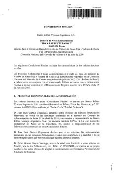 CONDICIONES FINALES D. Pedro Gomez Garcia Verdugo, mayor