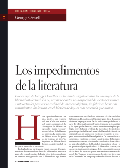 Los impedimentos de la literatura