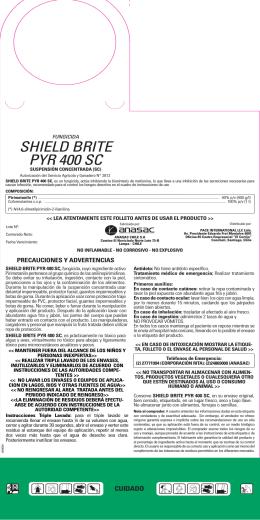 shield brite pyr 400 sc - Servicio Agrícola y Ganadero
