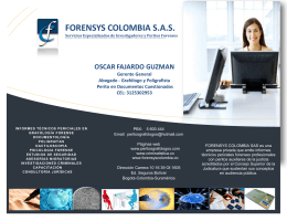 Folleto Forensys Colombia