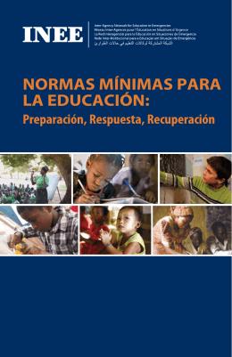 NORMAS MíNIMAS PARA LA EDUCACIóN: Preparación