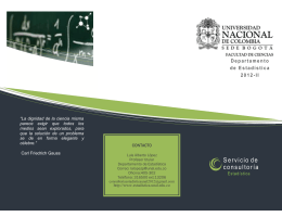 Folleto 2012II - Universidad Nacional de Colombia