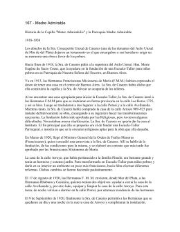 167 - Madre Admirable - Historia de Parroquias