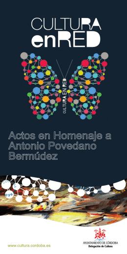 Actos en Homenaje a Antonio Povedano Bermúdez