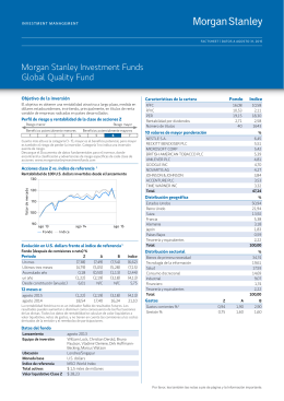 Morgan Stanley Investment Funds Global Quality