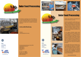 Solar Food Processing Solar Food Processing