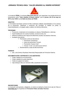 Programa Jornada SIKA mayo 2013