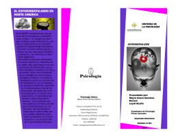 folleto experimentalismo
