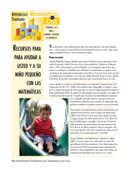 Matemáticas CASA - Early Learning: Math at Home