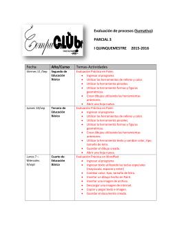 Evaluación de procesos (Sumativa) PARCIAL 3 I