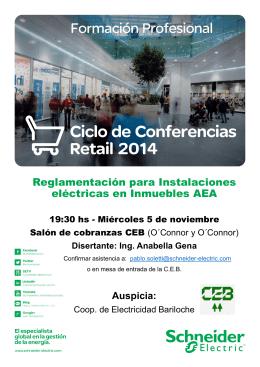 Folleto Charlas Retail 2014 CEB [Modo de compatibilidad]
