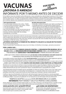 Peligro vacunas GripeA – Folleto A4