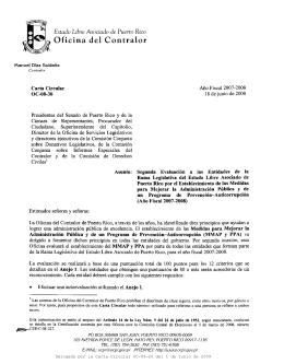 teléfono - Oficina del Contralor General de Puerto Rico
