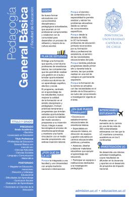 Pedagogía General Básica - Admisión y Registros Académicos