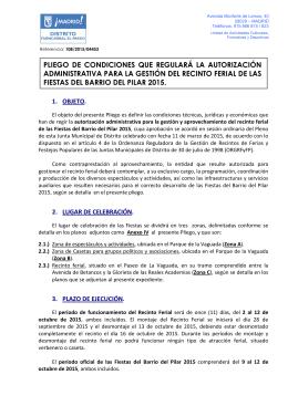 Pliego de condiciones y Anexos I a III
