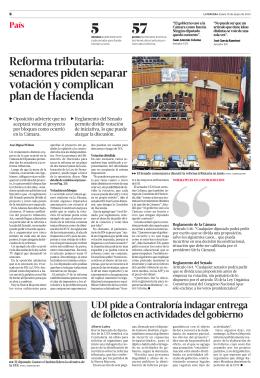 Reforma tributaria: senadores piden separar votación