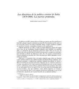 Las directrices de la política exterior de Italia - digital