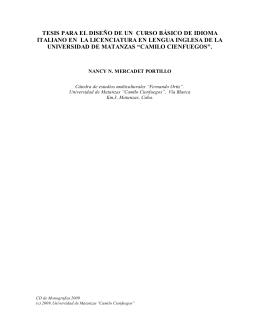tesis para el diseño de un curso básico de idioma italiano en la