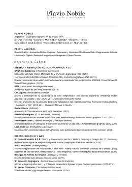 FLAVIO NOBILE Argentino · Ciudadano Italiano