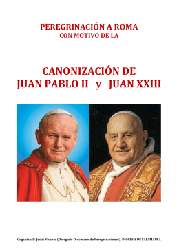 PEREGRINACION A ITALIA - Diócesis de Salamanca