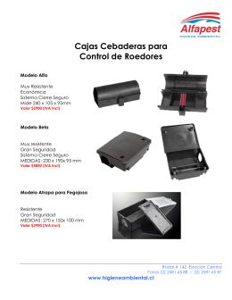 Cajas Cebaderas - Alfapest