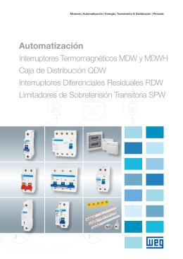 Interruptores MDW, DWP, RDW, SIW, SPW