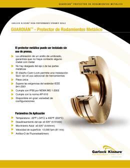 GUARDIAN™ - Protector de Rodamientos Metálico