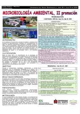 Folleto Curso Microbiología Ambiental version final
