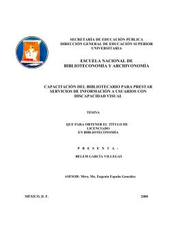 CAPITULO UNO - Biblioteca - Secretaría de Educación Pública
