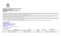 DC- Correspondencia- Inventario para la web