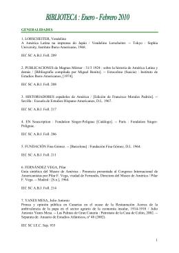 Enero - Febrero 2010 - Instituto de Estudios Canarios