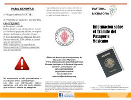 Información sobre el Trámite del Pasaporte Mexicano