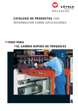Catálogo ROLLBLOC - Güthle Pressenspannen GmbH