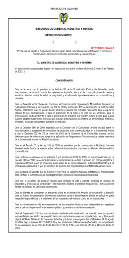 ministerio de comercio, industria y turismo resolucion numero