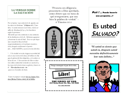 Spanish brochure -Are You Saved