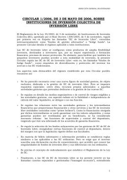 CIRCULAR 1/2006, DE 3 DE MAYO DE 2006, SOBRE