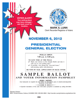 SAMPLE BALLOT - Other Information