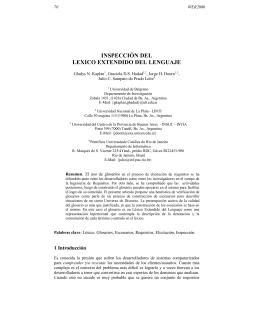 inspección del lexico extendido del lenguaje - WER - PUC-Rio