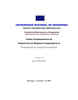 Programación en Lenguaje Ensamblador UNIVERSIDAD
