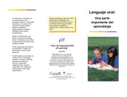 Lenguaje oral: Una parte importante del aprendizaje