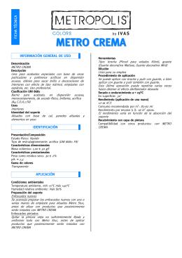 Ficha técnica METRO CREMA