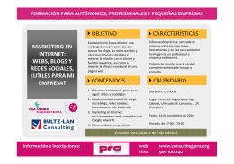 Folleto MARKETING EN INTERNET.Navarra