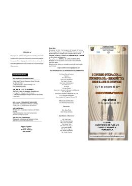 Folleto II congreso fenomenologia 6 y 7 octubre