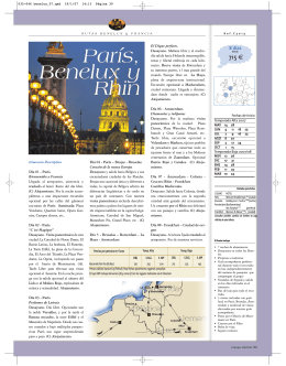 París, Benelux y Rhin París, Benelux y Rhin