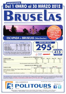 Bruselas - hora de viajar